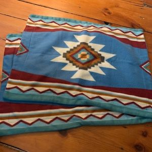 Southern Print Fleece Pillow Shams - Set of 2